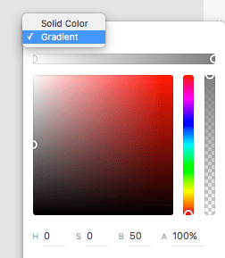 Adobe XD Gradient Fill