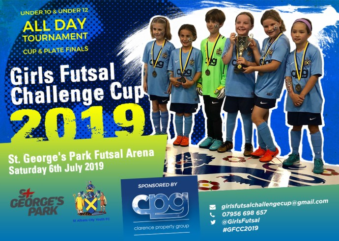 Girl's Futsal tournament flyer 2019