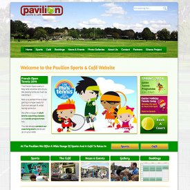 Pavilion Sports & Café Website
