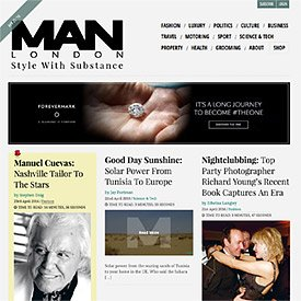 MAN LONDON Website