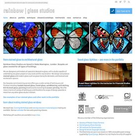 Rainbow Glass Studios Website