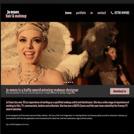 Jo Evans Makeup Artist Website