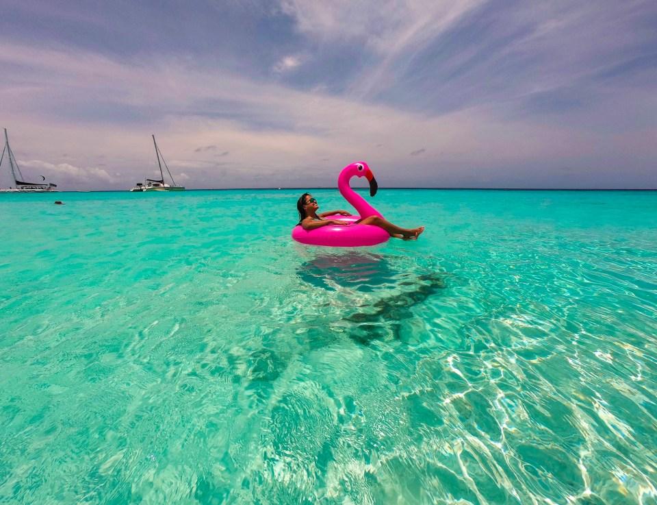Curaçao e seu mar azul incrível