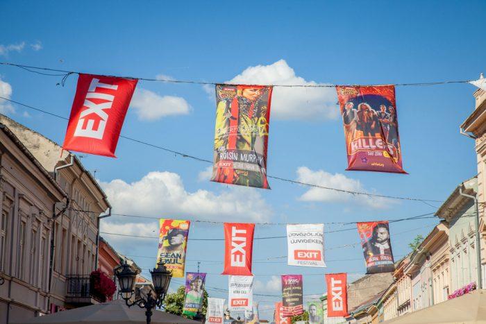 festival exit banderole logo novi sad