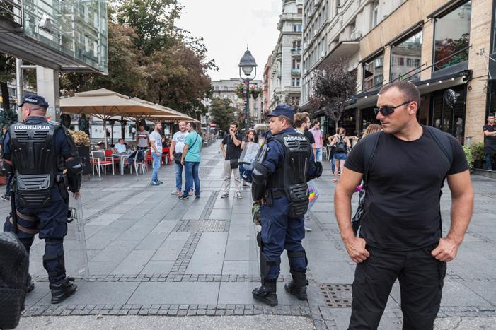 policemen belgrade gay pride 2017 serbia