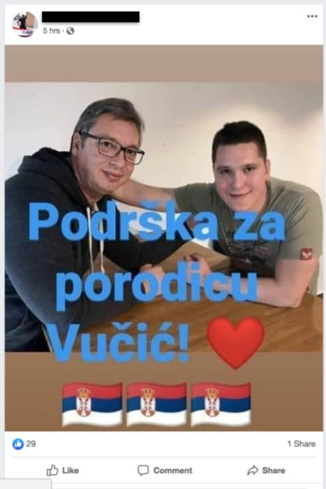 danilo vucic facebook vucic sns serbie bot 2