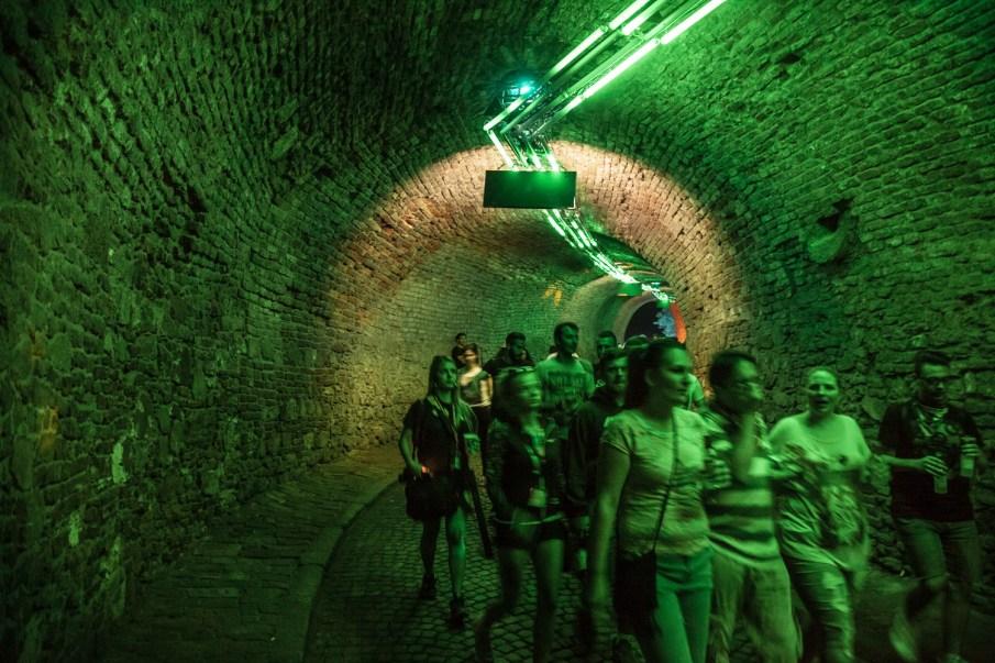 exit festival tunnel forteresse petrovaradin