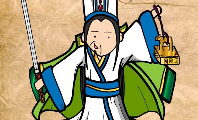 孔明 劉備の剣とハンコ