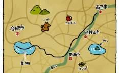 合肥の戦いの地図