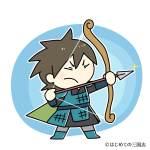 弓矢を構える李広