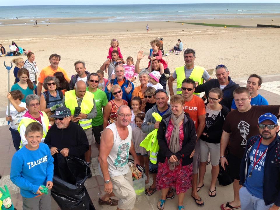 Nettoyage de la plage d'Houlgate