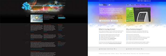 glowing rainbow background websites