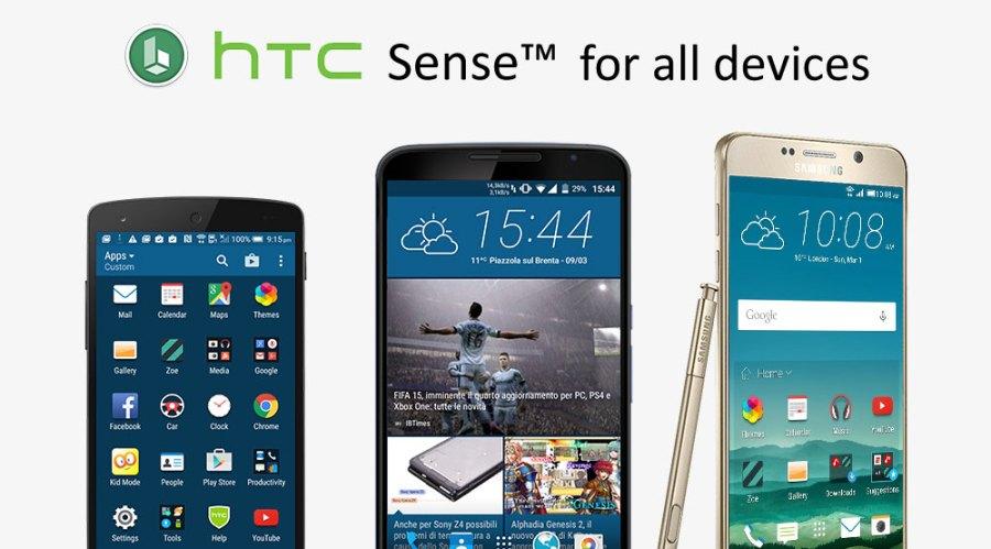 tüm android cihazlar için htc sense