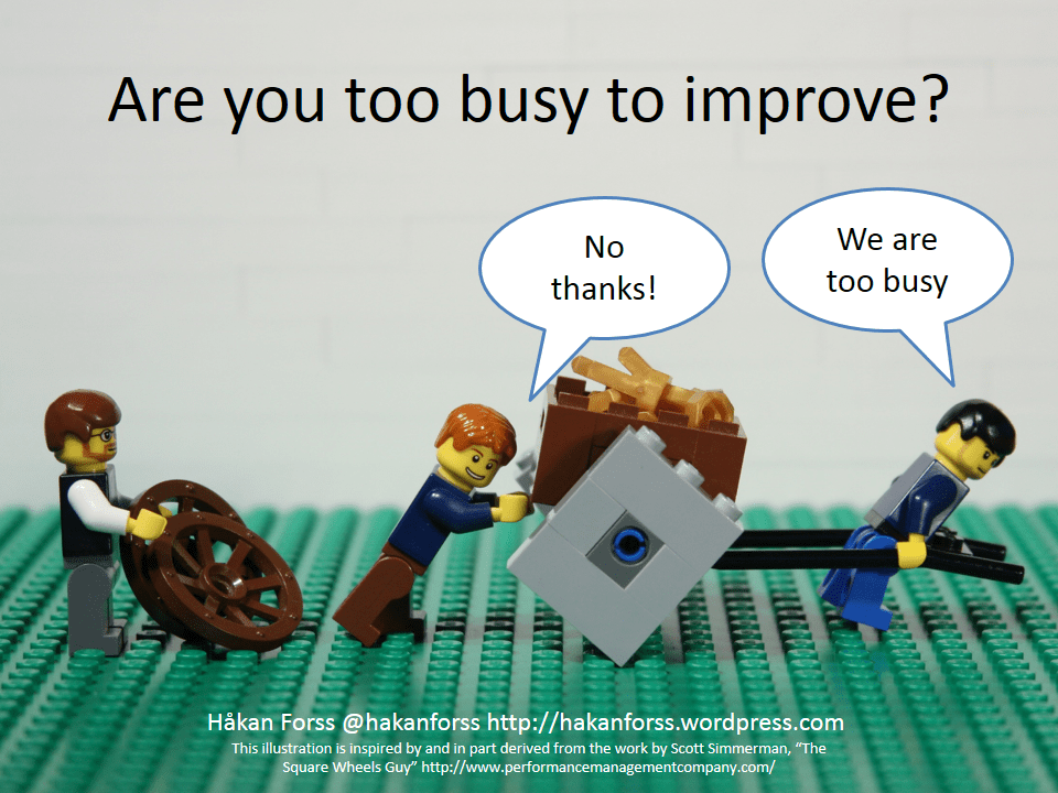 Are you too busy to improve  Hakan Forsss Blog