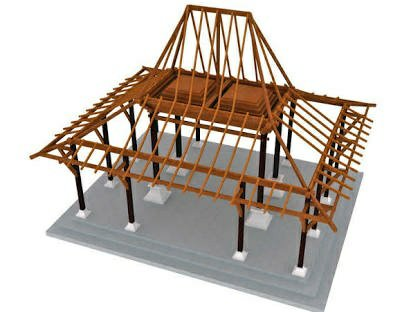 joglo dari baja ringan cara membuat bangunan arsitektur interior