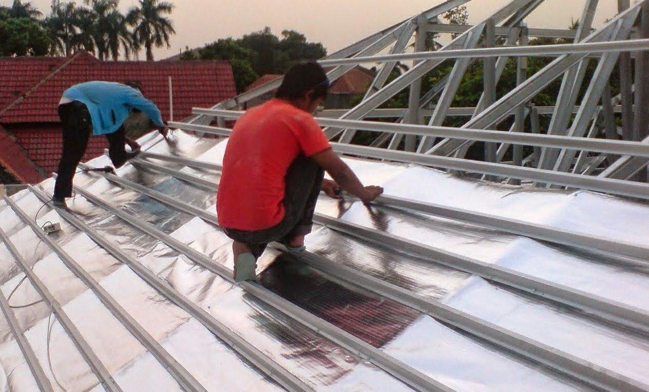 aluminium foil pada baja ringan untuk atap arsitektur interior