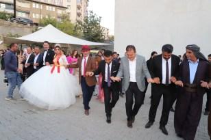 Vali Akbıyık, aşiret düğününde halay çekti