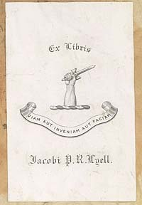 J.P.R. Lyell's paper bookplate