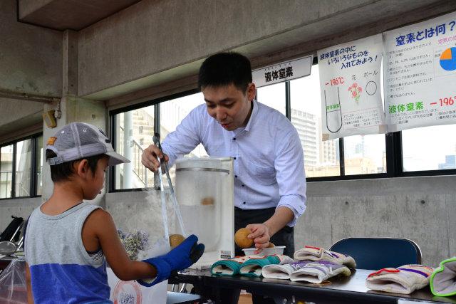 「青少年のための科学の祭典 函館大会」の様子