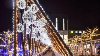 【2019/11/30~2020/2/29】函館駅前広場イルミネーション