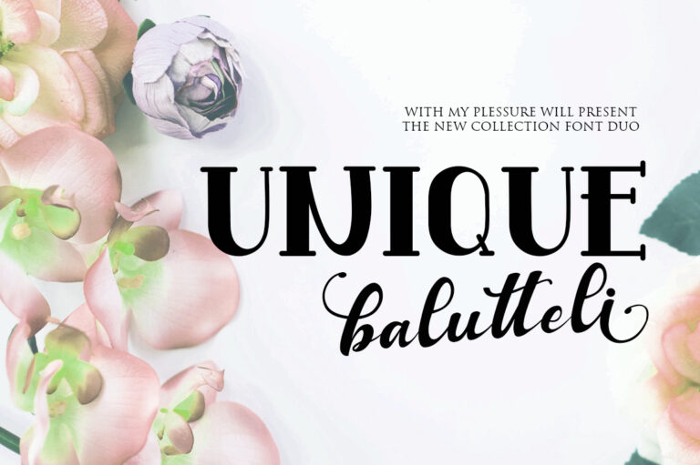 Preview image of Unique Balutteli Font Duo