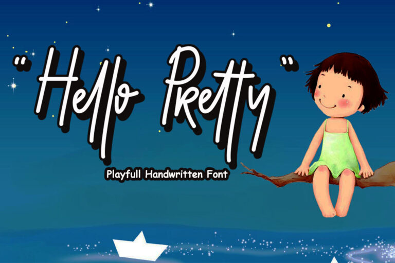 Preview image of Hello Pretty Playful Font With Extrude