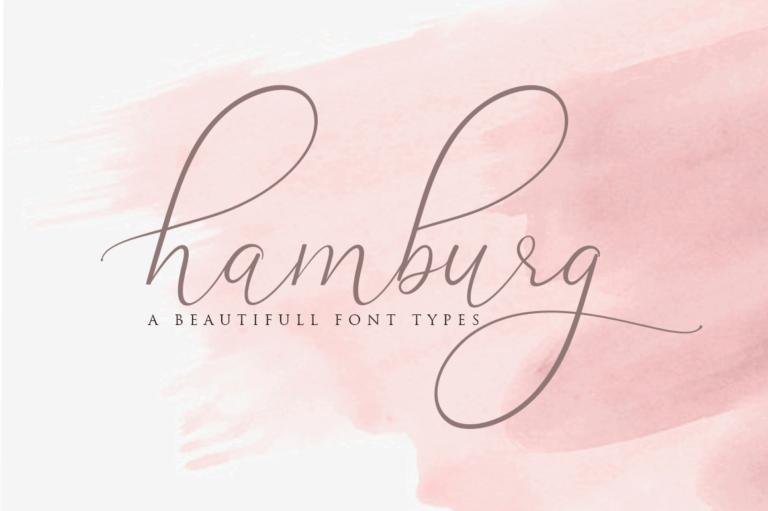 Preview image of Hamburg Love Font Pretty