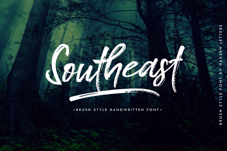 Preview image of Southeast Brush Font