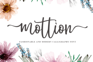 Mottion // Fashionable and Modern Calligraphy