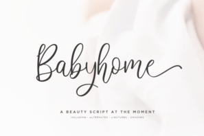 Babyhome Elegant Script in Two Version