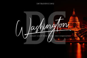 Washington DC / Elegant Font Duo