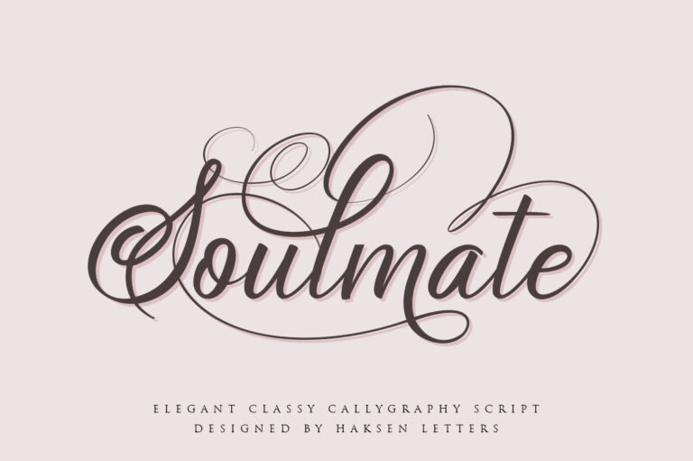 Preview image of Soulmate // Luxury Beauty Calligraphy