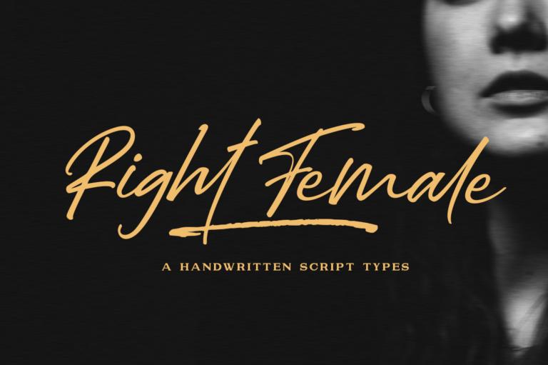 Preview image of Right Female / Elegant Bold Script