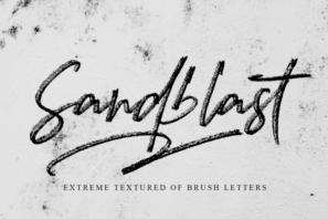 Sandblast Extreme Texture Brush Font