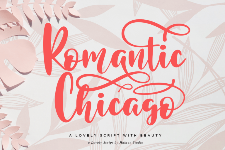 Preview image of Romantic Chicago a Lovely Handwritten Script