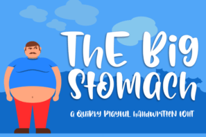 Big Stomach Playful Handwritten Font
