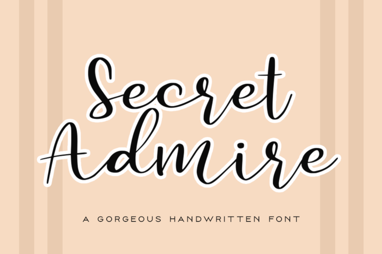 Preview image of Secret Admire Handwritten Font