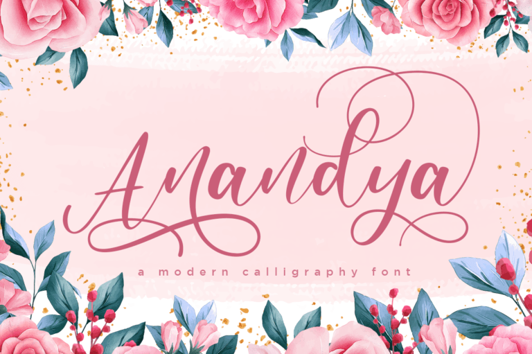 Preview image of Anandya Chic Modern Calligraphy