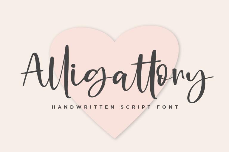 Preview image of Alligattory Handwritten Script