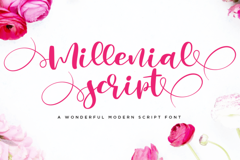 Preview image of Millenial Script Modern Calligraphy