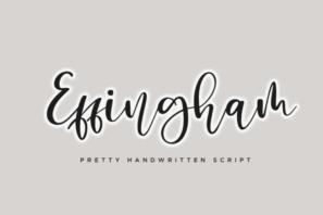 Effingham a Cute Bouncy Handwritten Font