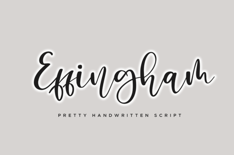 Preview image of Effingham a Cute Bouncy Handwritten Font