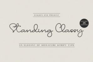Standing Classy Script