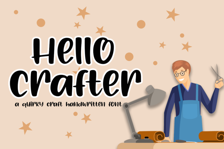Preview image of Hello Crafter a Handwritten Craft Font
