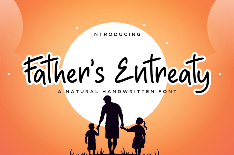 Preview image of Father's Entreaty Natural Handwritten Font