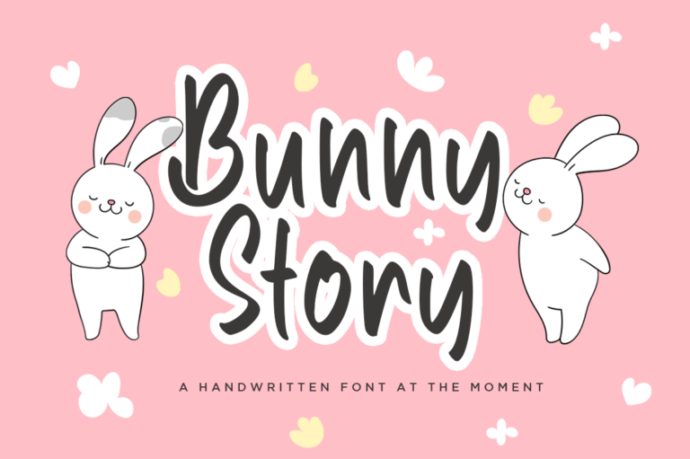 Preview image of Bunny Story Handwritten Font