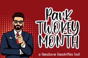 Park Twokeymonth / Handsome Handwritten Font