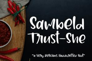Sambeld Trust-She // Delicious Handwritten Font
