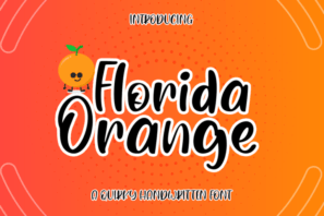 Florida Orange a Quirky Handwritten
