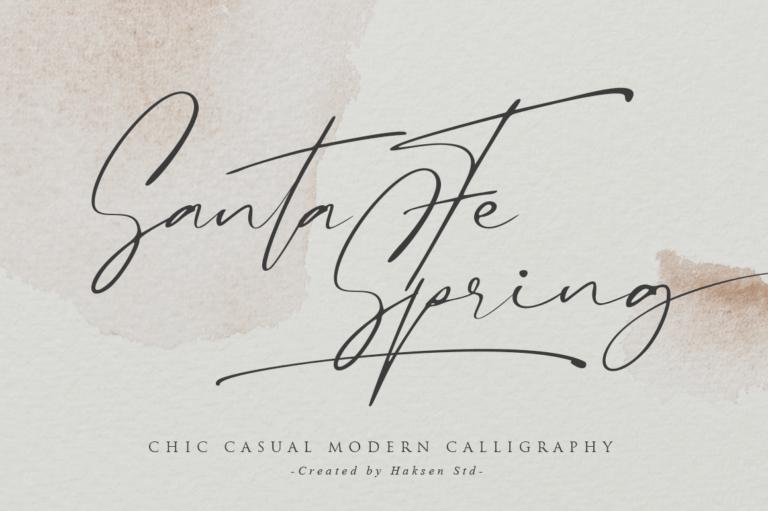 Preview image of Santa Fe Spring / Chic Casual Script